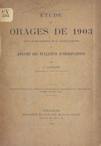 Étude des orages de 1903 da...