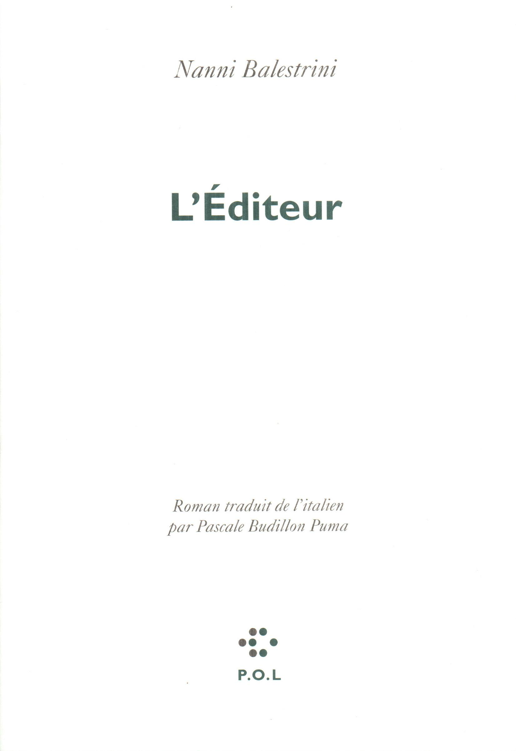 L'Éditeur