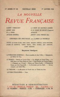 La Nouvelle Revue Française N' 124 (Janvier 1924)