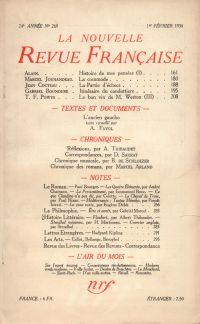 La Nouvelle Revue Française N° 269 (Février 1936)