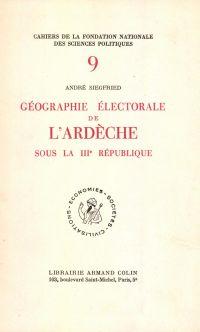 Géographie électorale de l'...