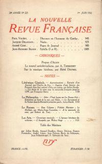 La Nouvelle Revue Française N° 225 (Juin 1932)