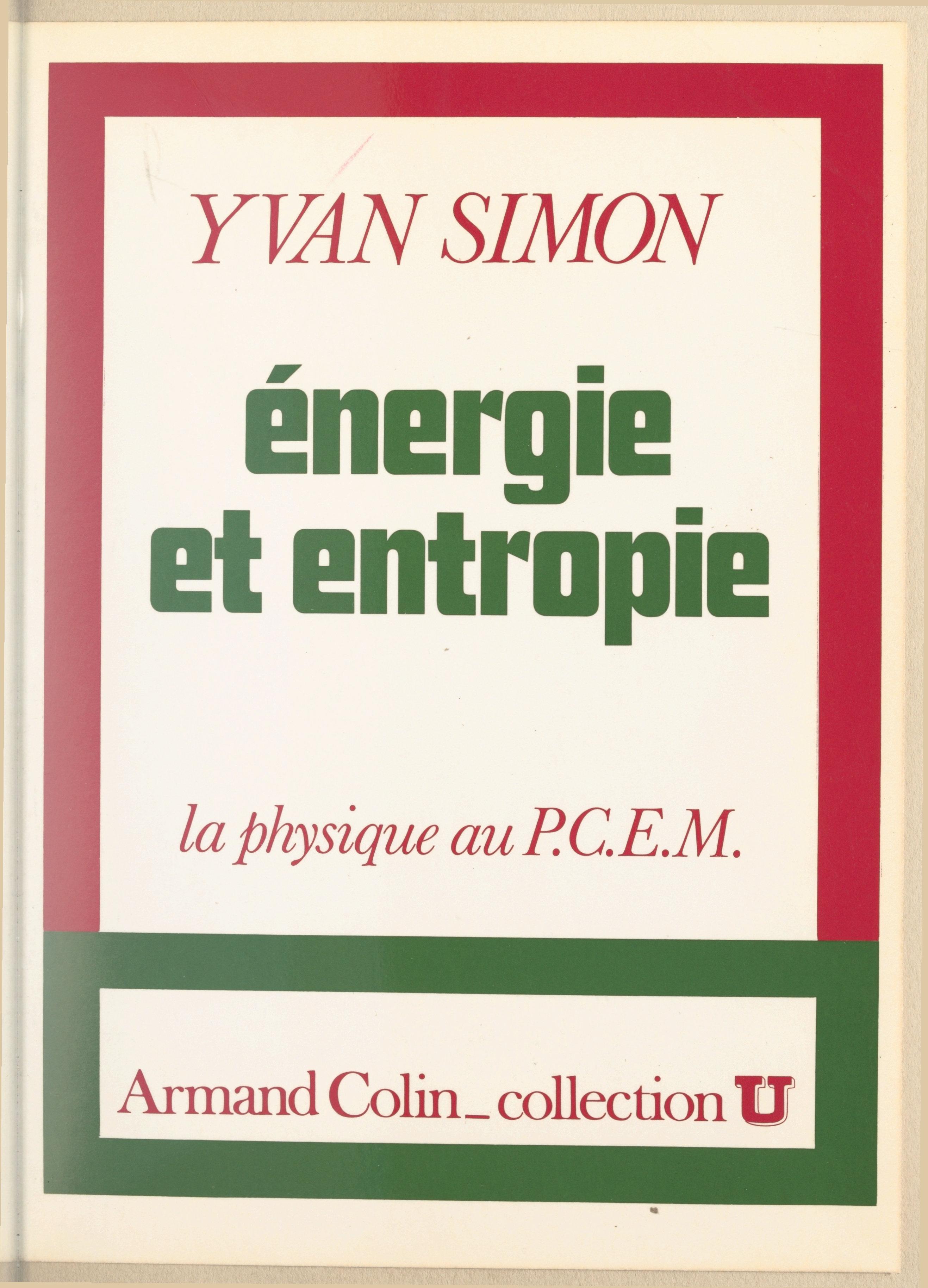 Énergie et entropie