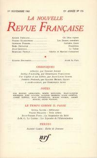 La Nouvelle Revue Française N' 155 (Novembre 1965)