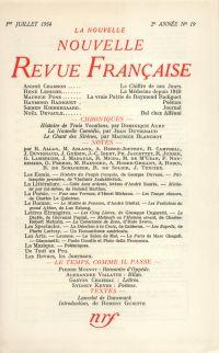 La Nouvelle Nouvelle Revue Française N' 19 (Juillet 1954)