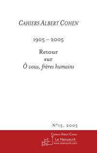 Cahiers Albert Cohen N°15