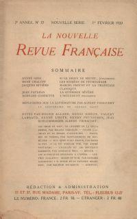 La Nouvelle Revue Française N' 77 (Février 1920)
