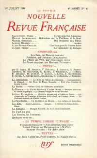La Nouvelle Nouvelle Revue Française N' 43 (Juillet 1956)