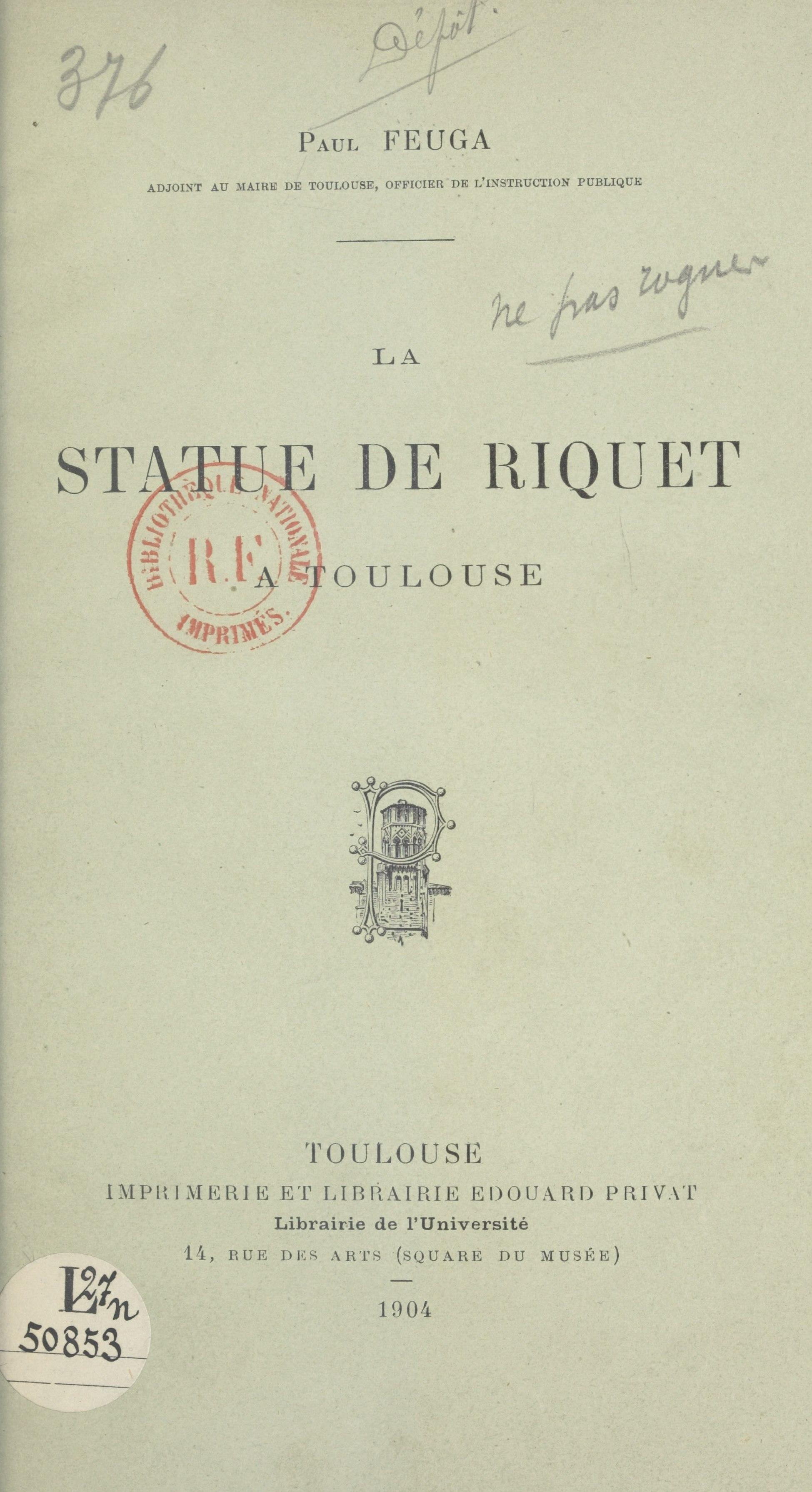 La statue de Riquet à Toulouse, DISCOURS PRONONCÉ, LE 1ER JUIN 1903, À LA SÉANCE DE CLÔTURE DU CONGRÈS DU SUD-OUEST NAVIGABLE, TENUE