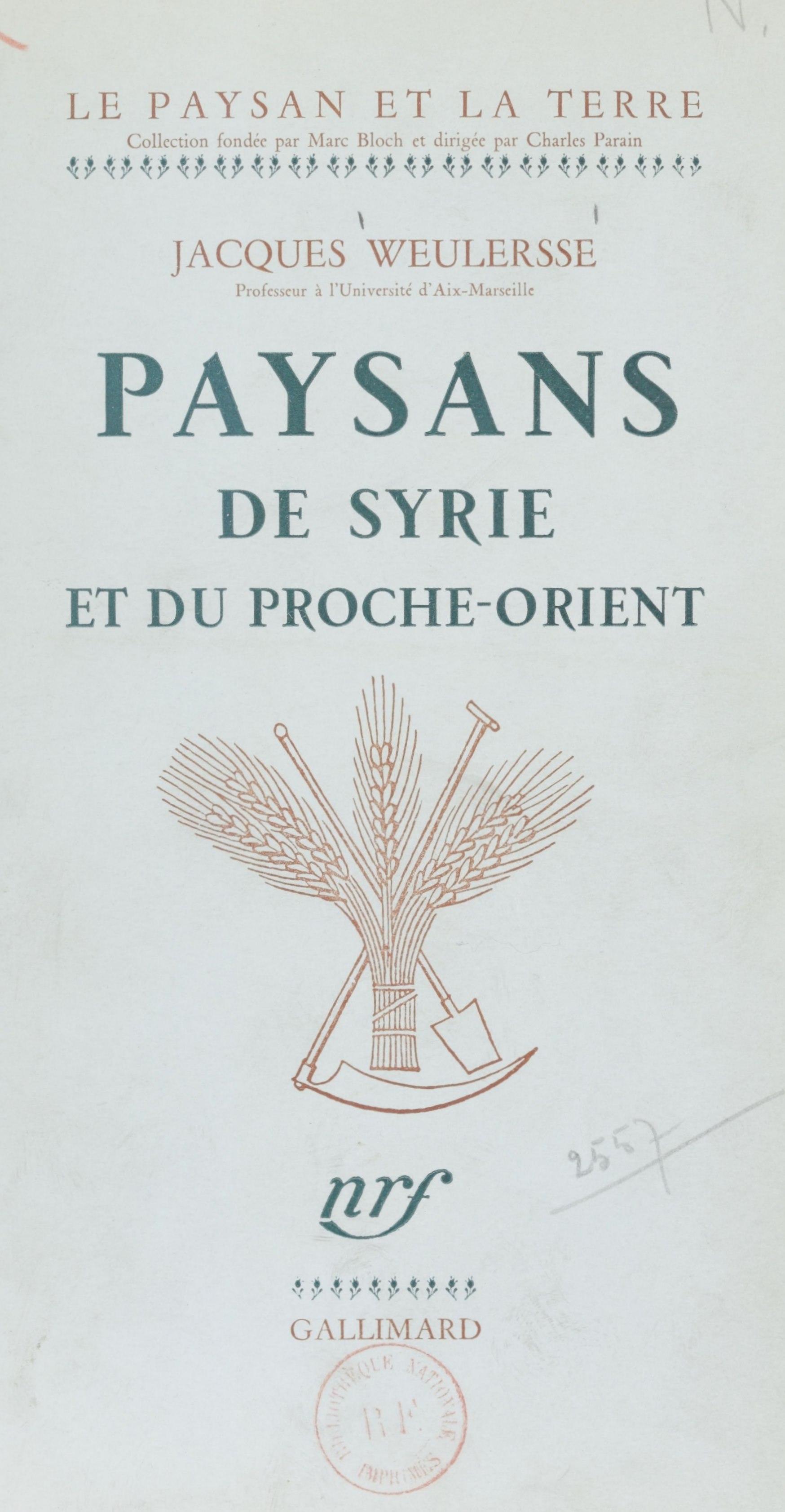 Paysans de Syrie et du Proche-Orient