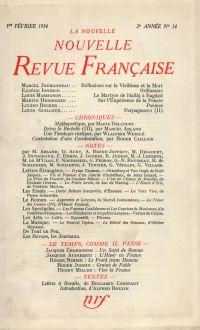 La Nouvelle Nouvelle Revue Française N' 14 (Février 1954)