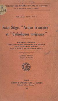 Saint-Siège, Action françai...