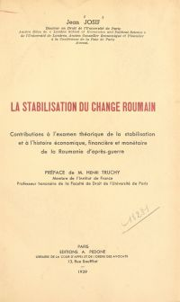 La stabilisation du change ...
