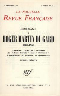 Hommage ŕ Roger Martin du Gard N' 72 (Décembre 1958)