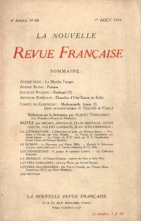 La Nouvelle Revue Française N' 68 (Aoűt 1914)