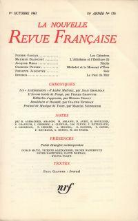 La Nouvelle Revue Française N' 178 (Octobre 1967)