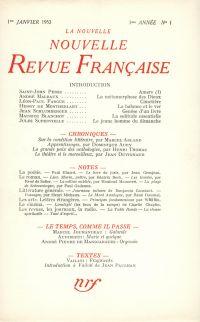 La Nouvelle Nouvelle Revue Française N' 1 (Janvier 1953)