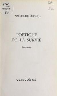 Poétique de la survie