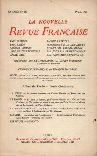 La Nouvelle Revue Française N' 140 (Mai 1925)