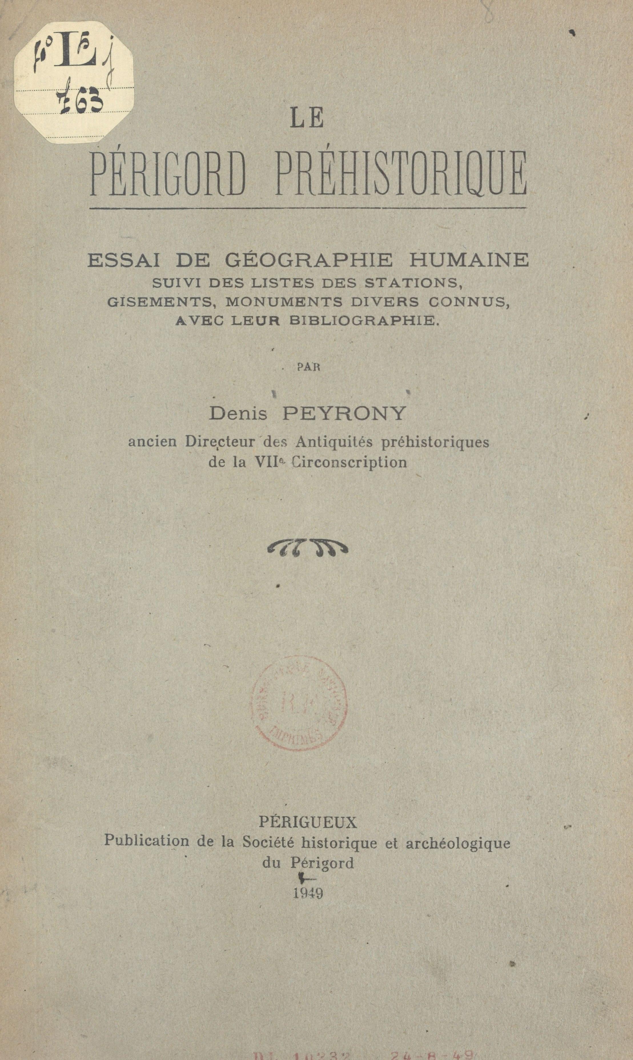 Le Périgord préhistorique :...