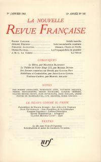 La Nouvelle Revue Française N' 145 (Janvier 1965)