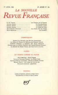 La Nouvelle Revue Française N' 136 (Avril 1964)