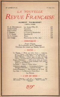 La Nouvelle Revue Française N° 272 (Avril 1936)