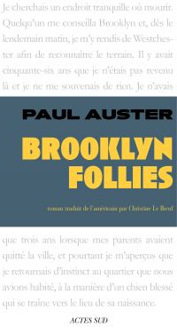 Brooklyn Follies | Auster, Paul (1947-....). Auteur