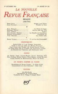 La Nouvelle Revue Française N' 130 (Octobre 1963)