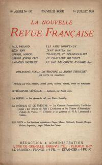 La Nouvelle Revue Française N' 130 (Juillet 1924)