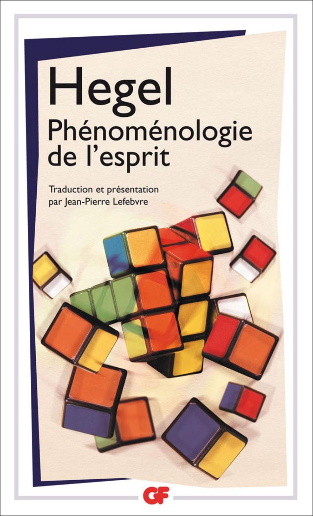 Phénoménologie de l'esprit   Lefebvre, Jean-Pierre