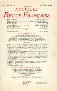 La Nouvelle Nouvelle Revue Française N' 49 (Janvier 1957)