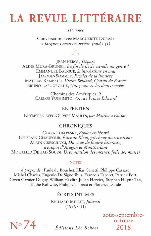 La Revue Littéraire N°74