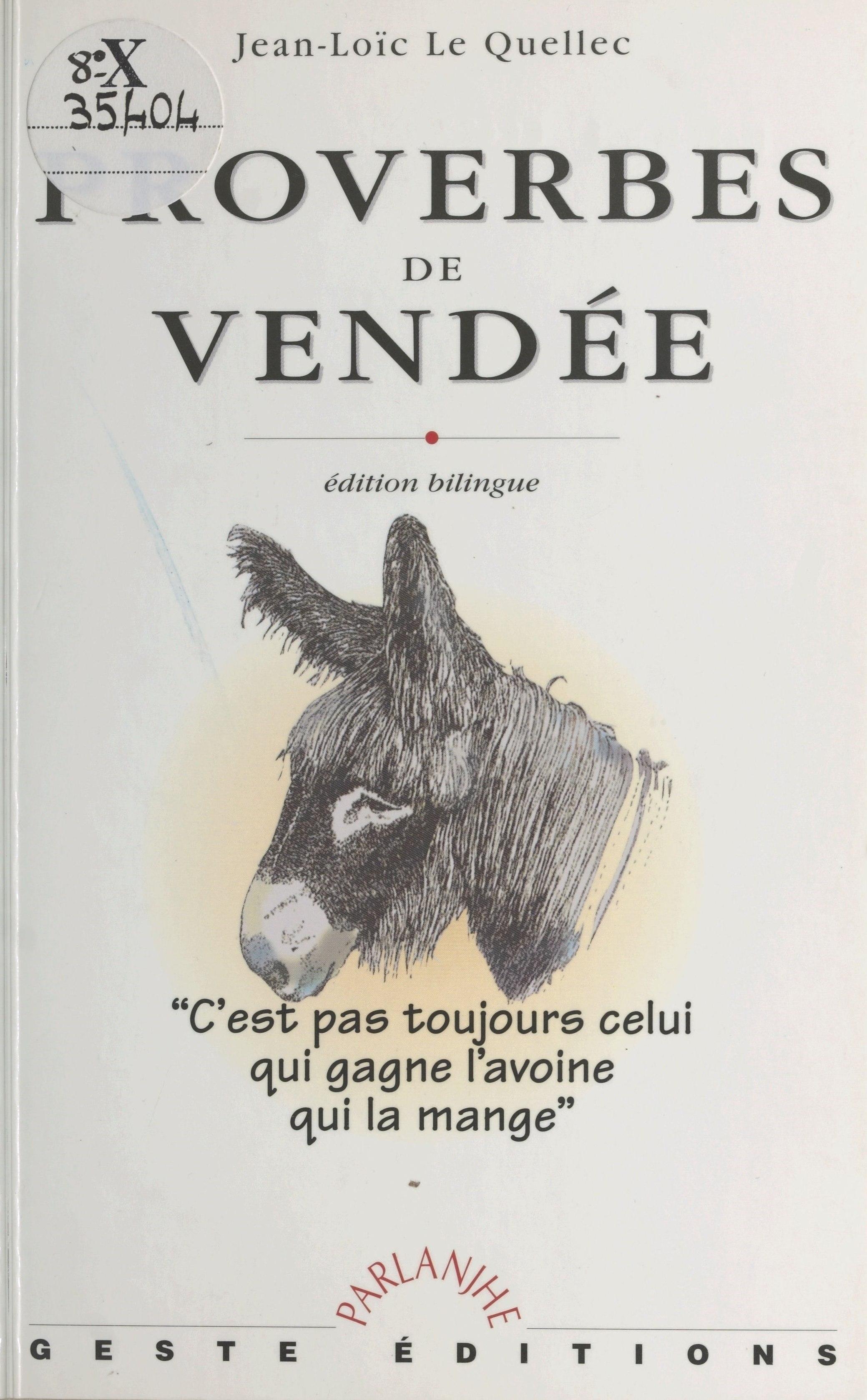 Proverbes de Vendée