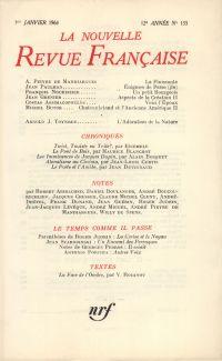 La Nouvelle Revue Française N' 133 (Janvier 1964)