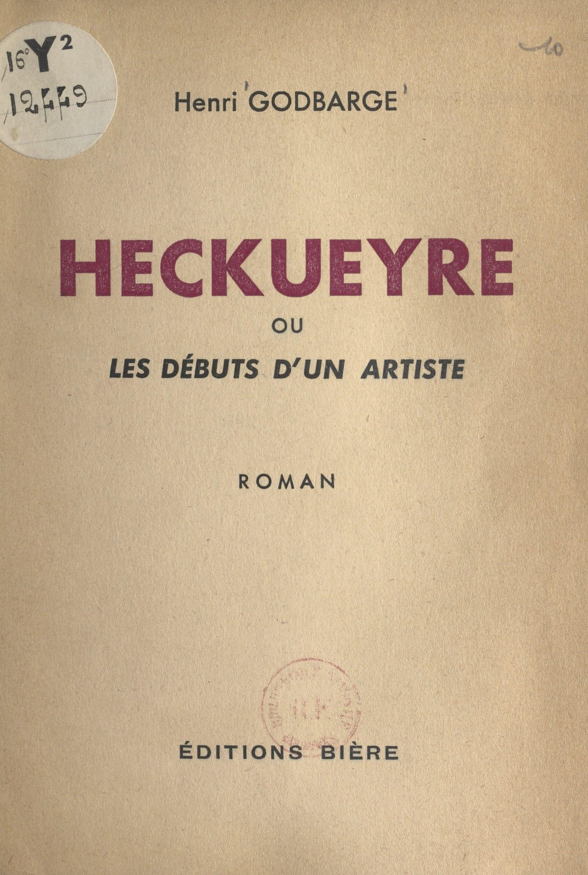 Heckueyre, OU LES DÉBUTS D'UN ARTISTE