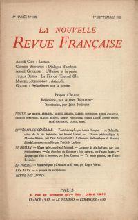 La Nouvelle Revue Française N' 180 (Septembre 1928)