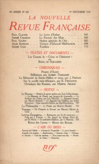 La Nouvelle Revue Française N° 266 (Novembre 1935)