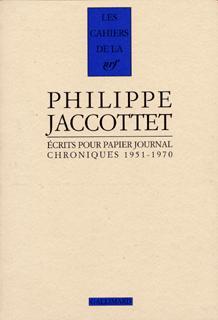 Écrits pour papier journal. Chroniques (1951-1970)
