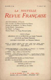 La Nouvelle Revue Française N' 166 (Juillet 1927)