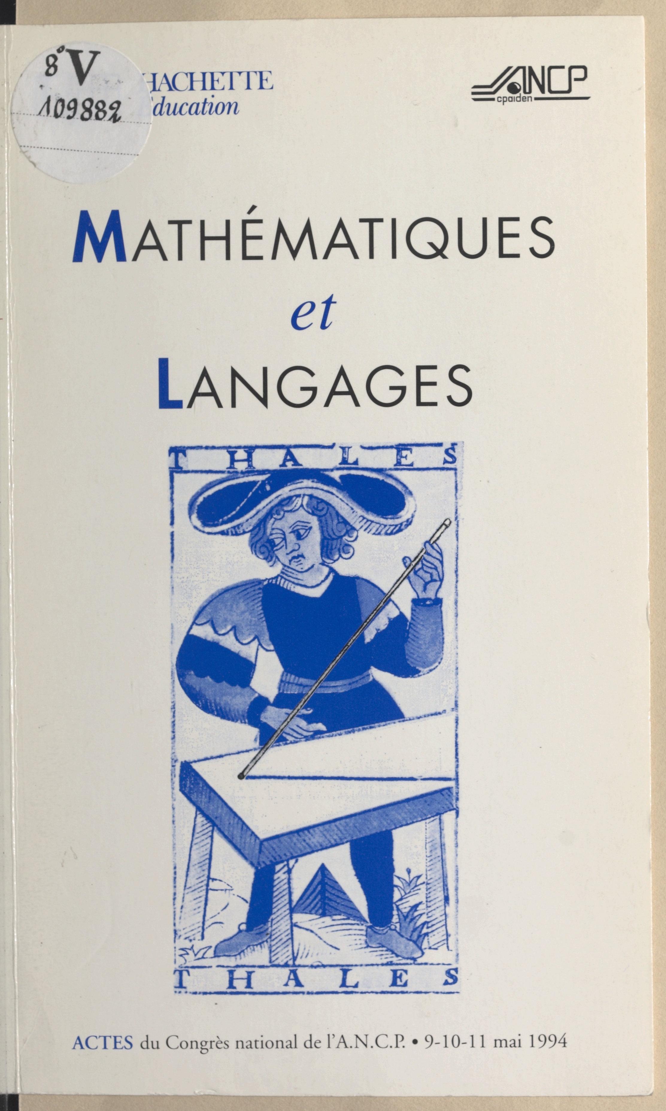Mathématiques et langages