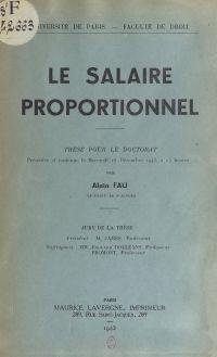 Le salaire proportionnel