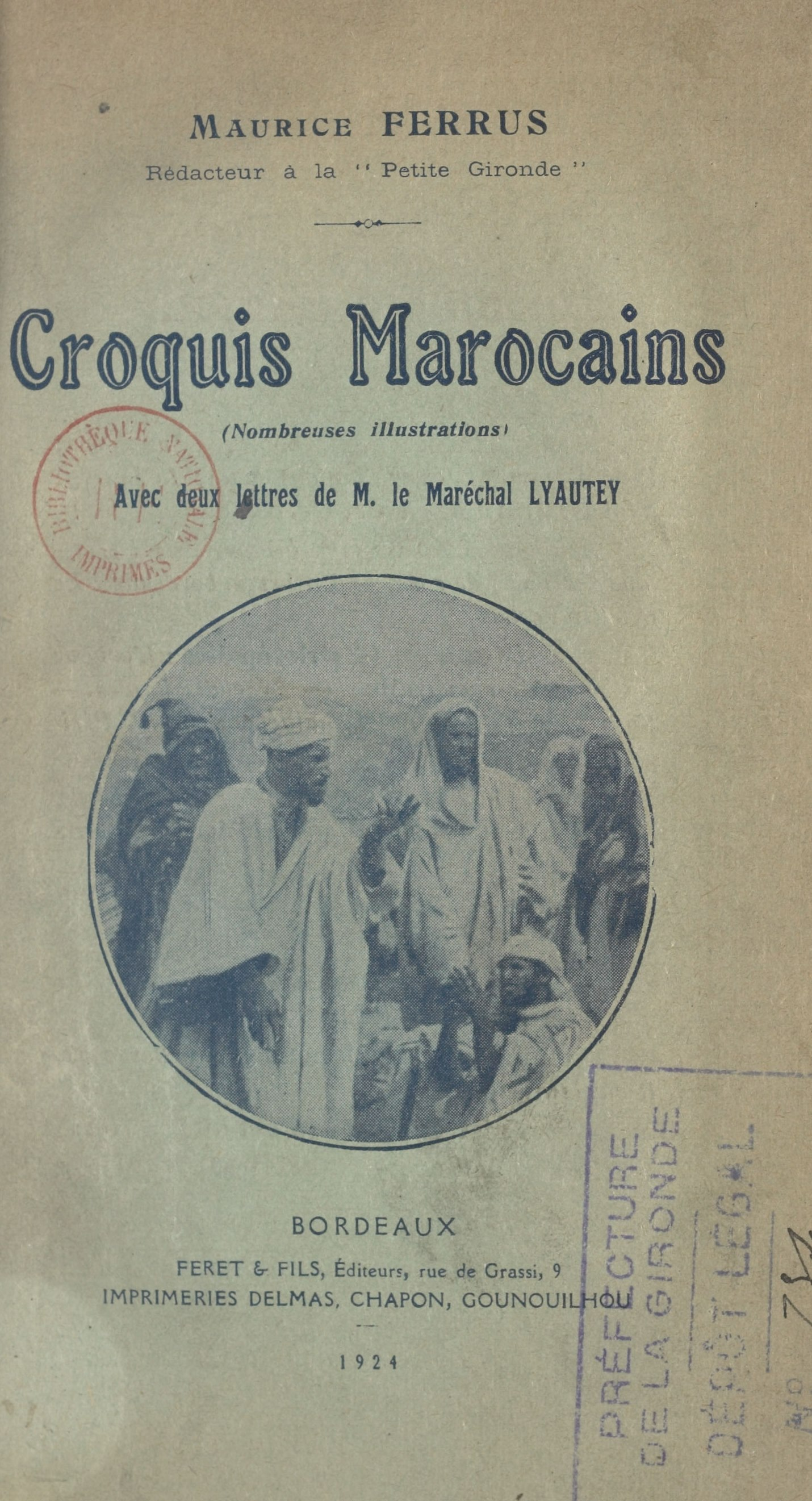 Croquis marocains, nombreus...