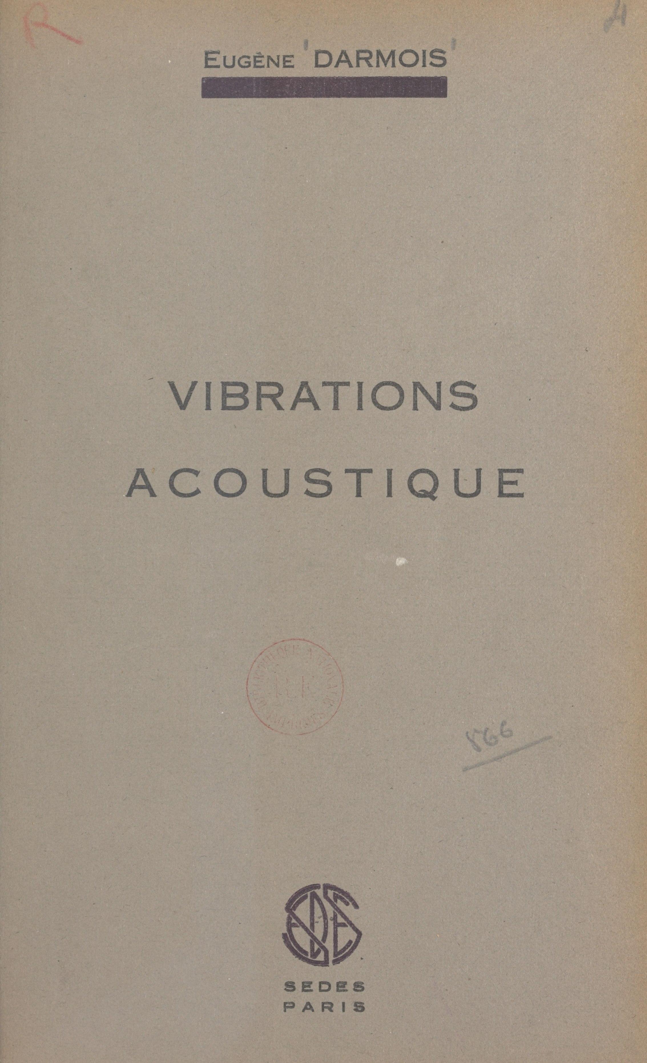 Vibrations, acoustique