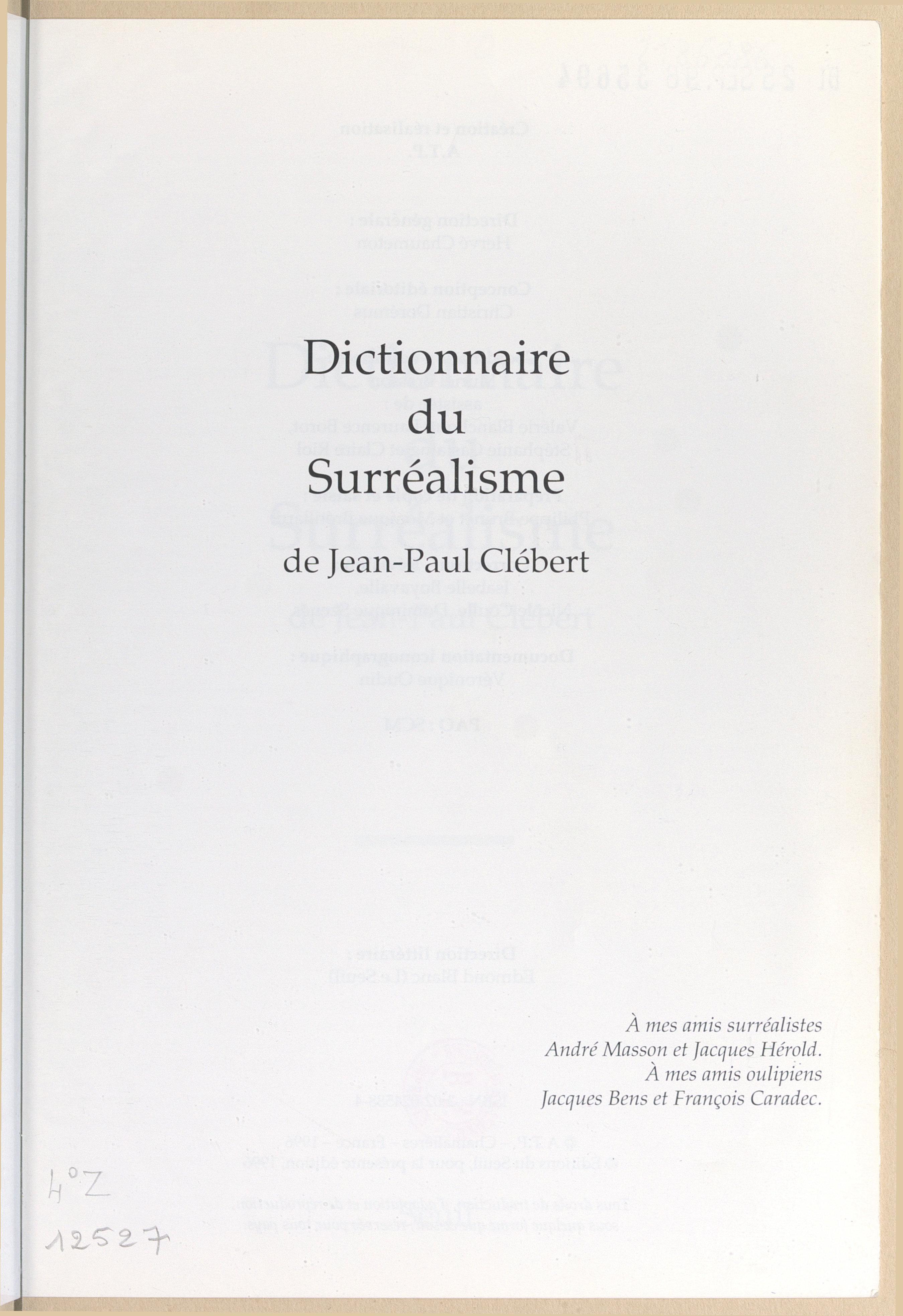 Dictionnaire du surréalisme