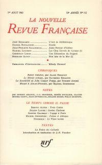 La Nouvelle Revue Française N' 152 (Aoűt 1965)