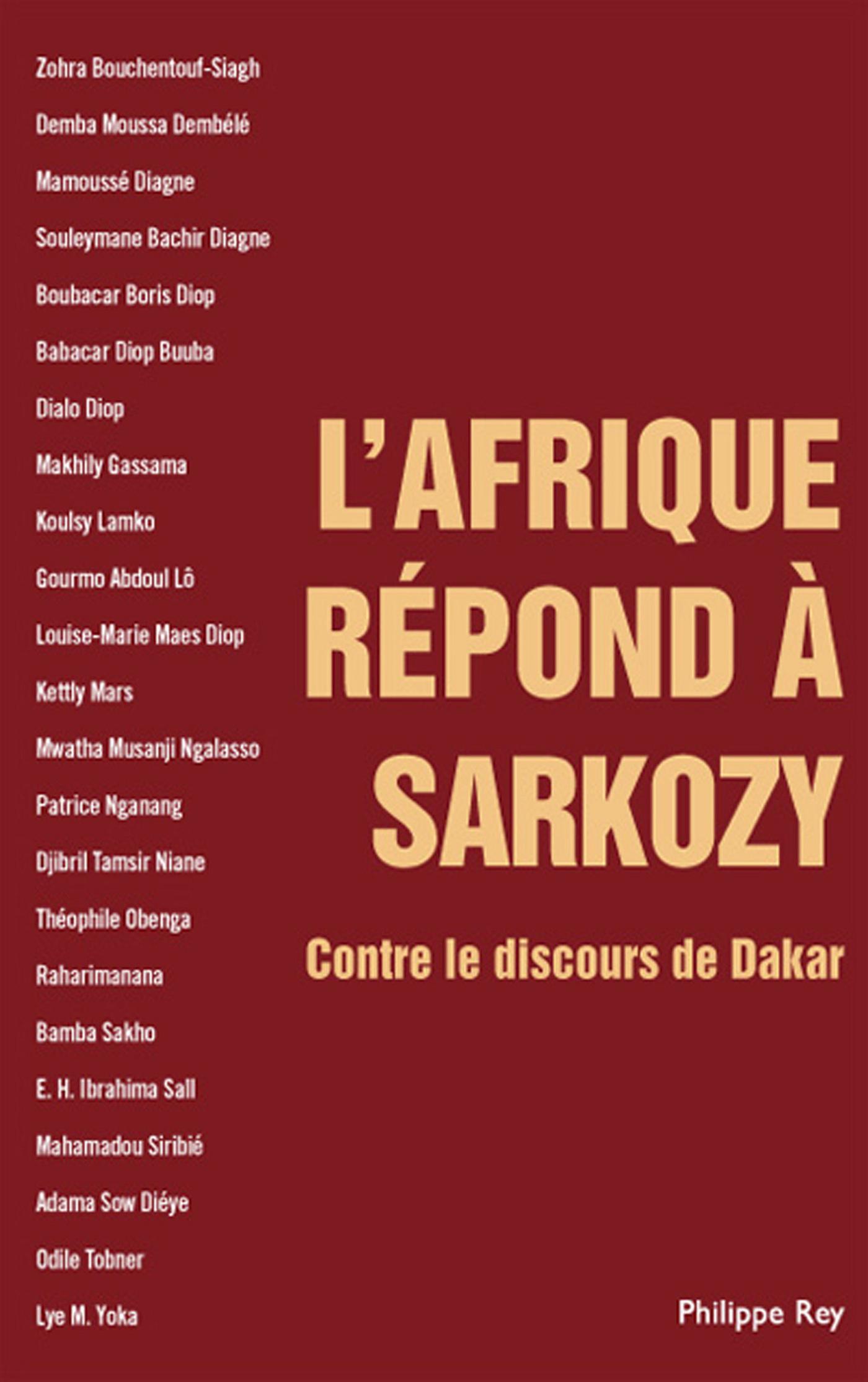 L'Afrique répond à Sarkozy. Contre le discours de Dakar