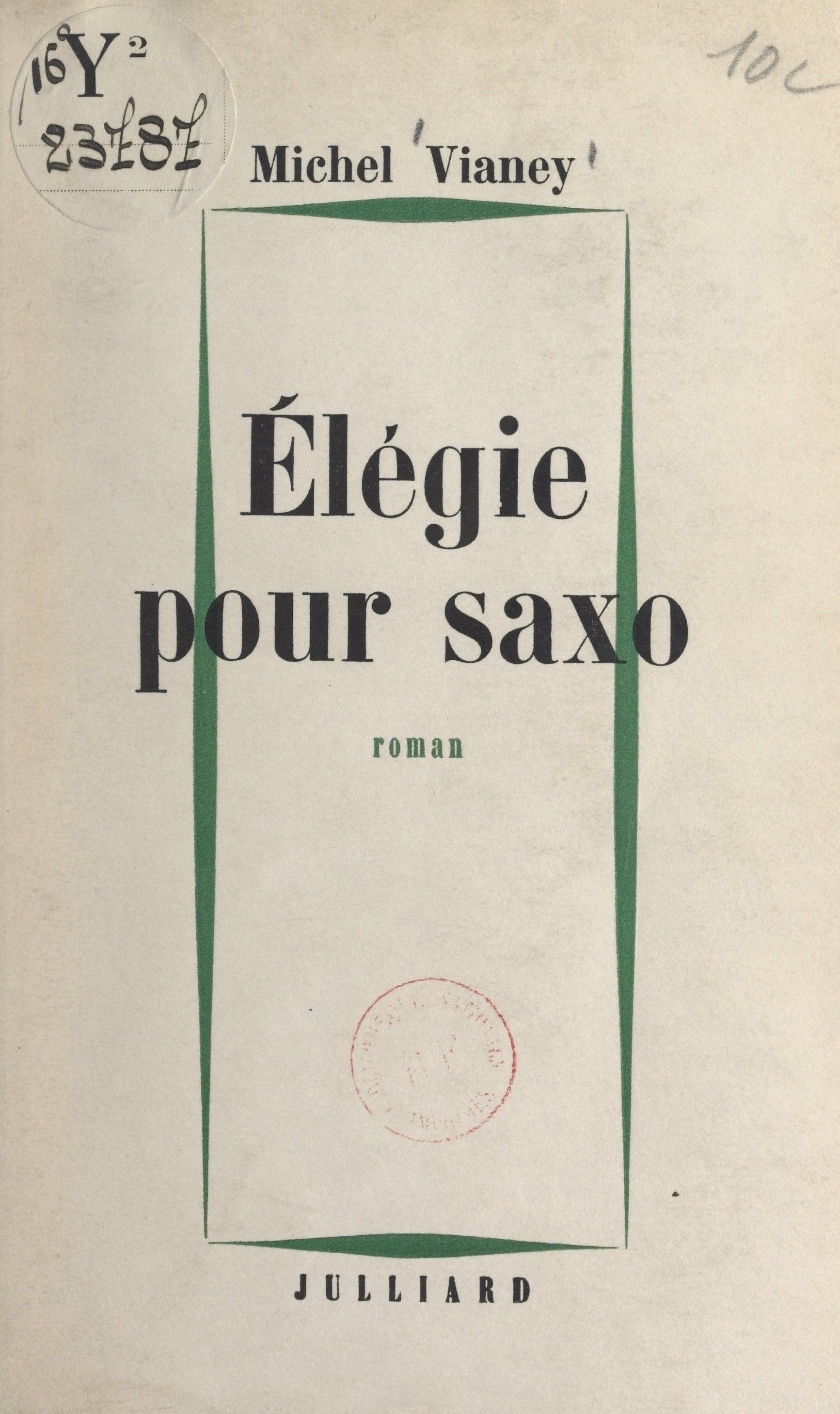 Élégie pour saxo