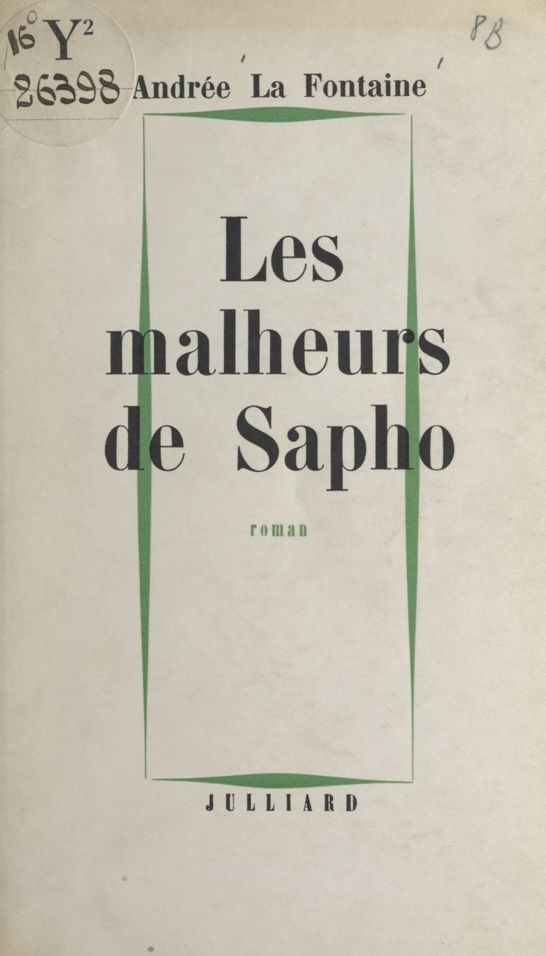Les malheurs de Sapho