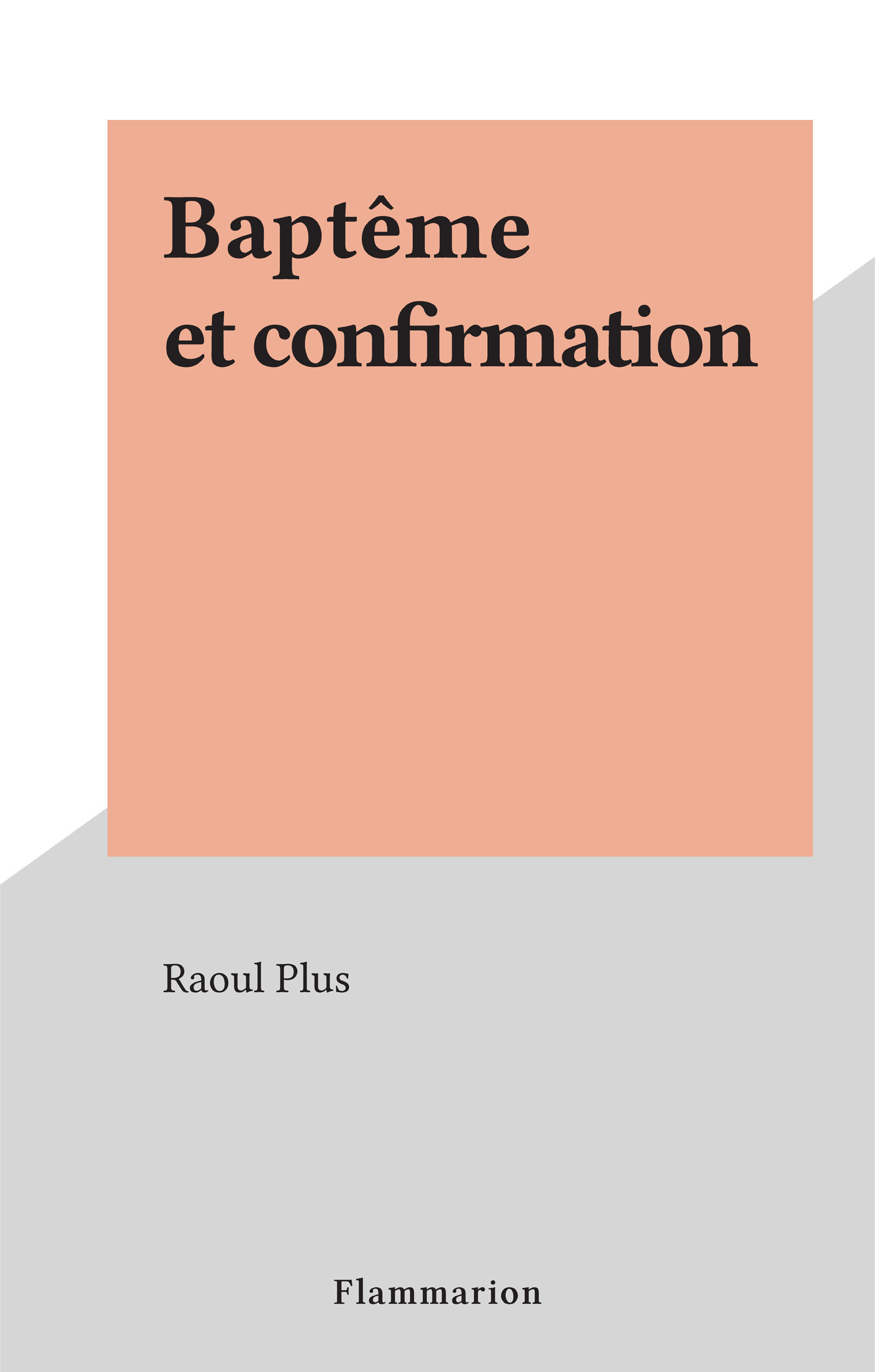 Baptême et confirmation